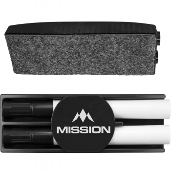 Mission Whiteboard Kit - Dry Wipe Eraser + Pens