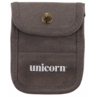 Unicorn Accessory Pouch - Grey Flocked Leather