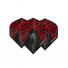 Winmau Flight - Prism Alpha - Black & Red Spider