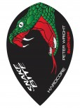 Red Dragon Flight Hardcore Peter Wright - Pear - Black Green
