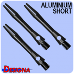 Designa Shaft Alu Anodised - Short - Black