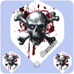 Designa DSX Flights Blood Skull and Crossbones