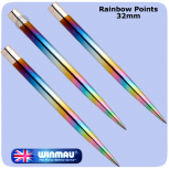 Winmau Points - Smooth - 32mm - Rainbow